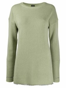 Joseph metallic-thread extended-cuff sweater - Green