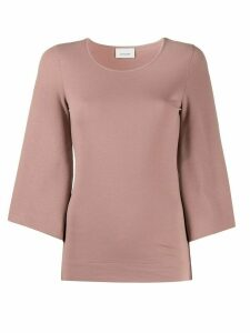 Lemaire cropped sleeve knitted top - PINK