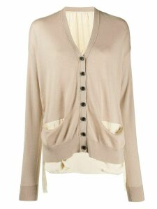 Uma Wang long sleeve button-up cardigan - NEUTRALS