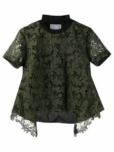 Sacai lace layered T-shirt - Green