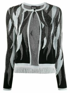 Just Cavalli abstract pattern cardigan - Black