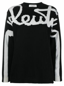 Valentino signature jumper - Black