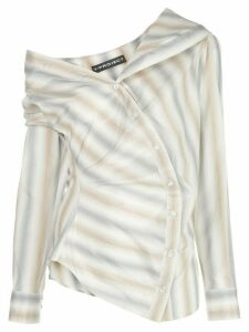 Y/Project off the shoulder striped shirt - Grey