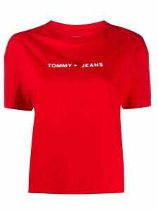 Tommy Jeans cropped logo T-shirt - Red