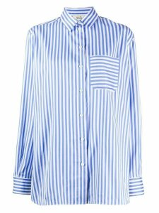 Mulberry long sleeve striped pattern shirt - White
