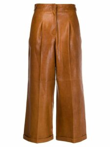 Arma cropped flared leg trousers - Brown