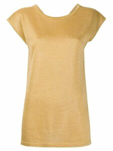 Missoni short-sleeve fitted jumper - Yellow
