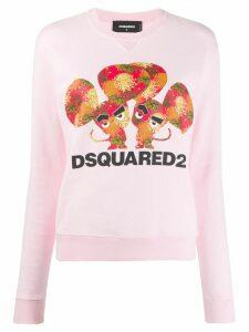 Dsquared2 logo print sweatshirt - PINK