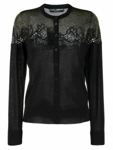 Dolce & Gabbana lace detailed cardigan - Black