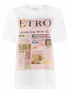 Etro logo graphic print T-shirt - White