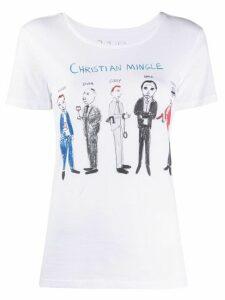 Unfortunate Portrait Christian Mingle short sleeve T-shirt - White