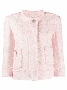 LIU JO tweed short jacket - PINK