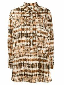 Barena oversized abstract print shirt - NEUTRALS