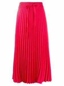 RedValentino pleated midi skirt - PINK