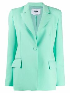 MSGM fitted blazer - Green