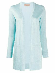 Missoni draped embroidered cardigan - Blue