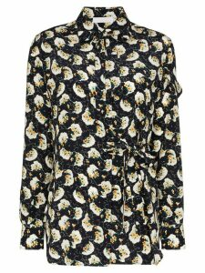 Chloé tie-side floral print blouse - Blue