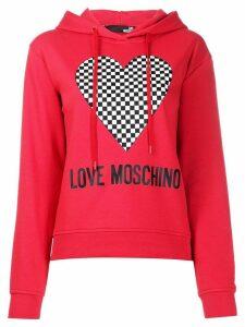Love Moschino logo print hoodie - Red