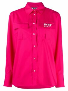 MSGM patch-pocket shirt - PINK
