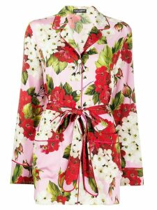Dolce & Gabbana floral pajama blouse - PINK