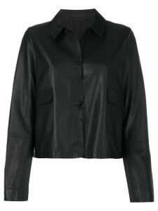 S.W.O.R.D 6.6.44 cropped leather jacket - Black