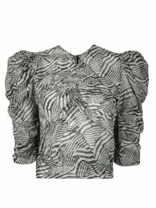 Isabel Marant Eddie abstract print blouse - White