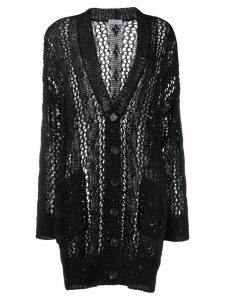 Brunello Cucinelli ribbed loose knit cardigan - Black