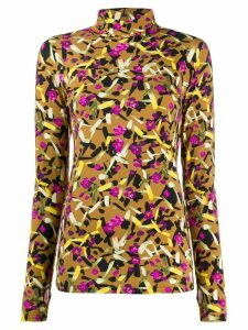 Dorothee Schumacher floral-print slim-fit top - Brown