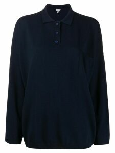 Loewe collared knitted top - Blue