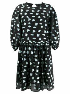 Cecilie Bahnsen Leonora patterned shift dress - Black