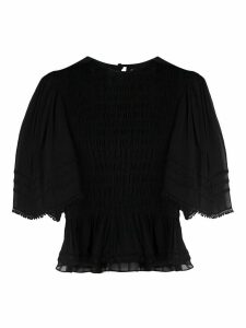 Isabel Marant Étoile gathered peplum blouse - Black