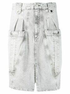 Isabel Marant Kalosia denim midi skirt - Grey