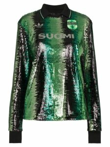adidas x Anna Isoniemi sequin striped top - Green