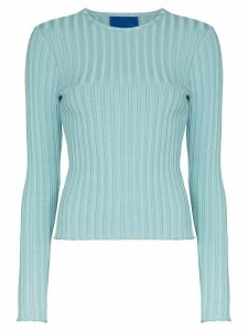 Simon Miller Devola ribbed jersey top - Blue