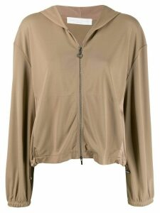 Fabiana Filippi zipped-up hoodie - NEUTRALS