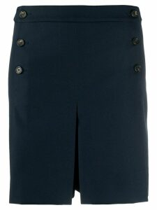Mulberry high-waisted pleated shorts - Blue