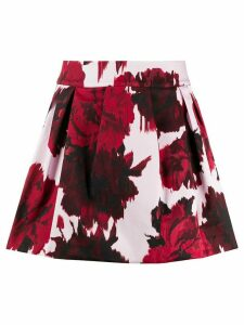 Alexandre Vauthier floral print skirt - Red