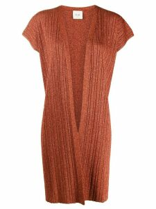 Alysi glitter detail shortsleeved cardigan - ORANGE