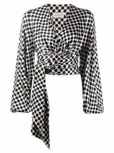 Alexandre Vauthier wrap waist blouse - PINK