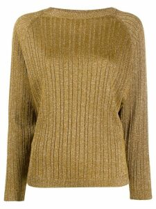 Alysi glitter detail ribbed knit jumper - GOLD