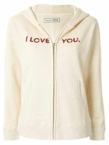 Tu es mon TRÉSOR I Love You zipped hoodie - NEUTRALS
