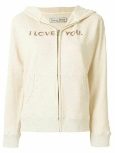 Tu es mon TRÉSOR 'I love you, pancake' sequined hoodie - NEUTRALS