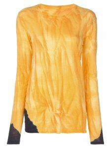 Proenza Schouler tie dye long sleeve T-shirt - ORANGE
