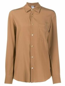 Aspesi silk button-up shirt - Brown