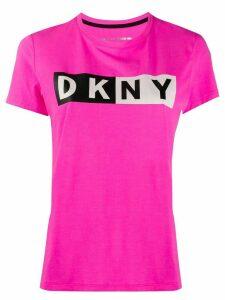DKNY logo print T-shirt - PINK