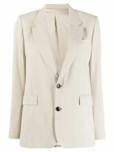 Ami Paris Half-Lined Two Buttons Jacket - NEUTRALS