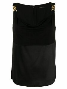 Versace paneled sleeveless top - Black