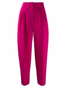 Alexander McQueen pleated tapered trousers - PINK