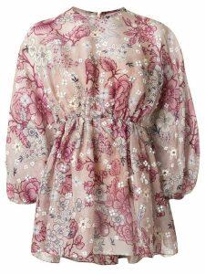 Biyan floral print oversized blouse - PURPLE