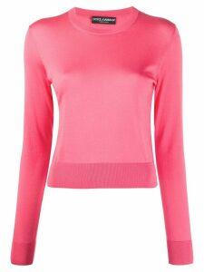 Dolce & Gabbana round neck jumper - PINK